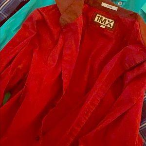 Express men's M (15-15.5) fitted dress 1MX shirt